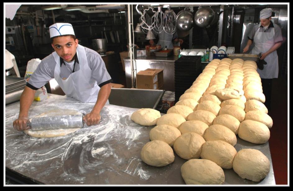 produccion en una panaderia