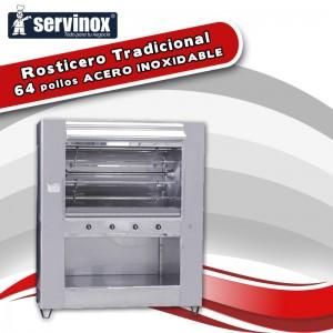 Rosticero Tradicional Para 64 Pollo ACERO INOX