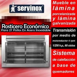 anuncio valmex rosticeros 4- linea economica 27 pollos inoxidable