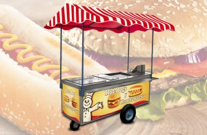 carrito Hot Dogs y Hamburguesas