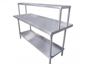 mesa de trabajo con repisa y piso PERSPECTIVA