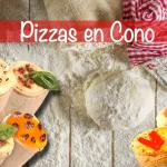 pizzas en cono