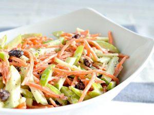 ensaladas navideñas de zanahoria, piña y manzana receta